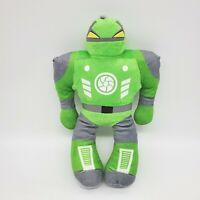 "14"" Kellytoy Robot Green Gray Boy Plush Stuffed Toy Lovey B225"