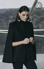 SABA Black Wool Cape 8