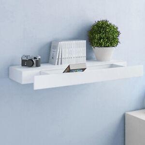 80x25cm Floating Storage Drawer Shelf Wall Mounted Décor Display Shelving Unit