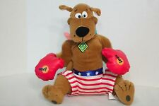 """Scooby-Doo wearing boxing gloves 12"""" plush toy doll (Toy Network)"""