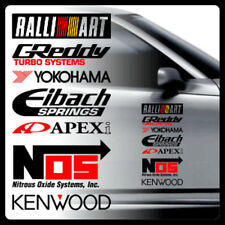 1pcs Ralliart Greddy NOS Apexi Car Side Door Sticker Decal 40x20cm QM0010BK