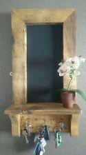 handmade rustic pallet chalkboard key hooks kitchen hallway porch shelf tidy