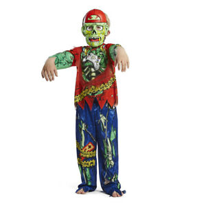 3 Pieces Halloween Gaming Zombie Costume- Kids Fancy Dress Outfit 3 - 8 Years