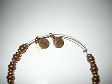 Alex and Ani Copper/Gold Colored Beaded Bracelet