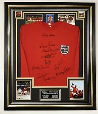 ** Rare England 1966 SIGNED Shirt Autograph JERSEY Display ** Signed by 10!!
