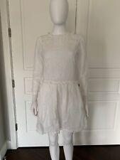 Zadig & Voltaire White Cotton Mini Dress Tunic XS