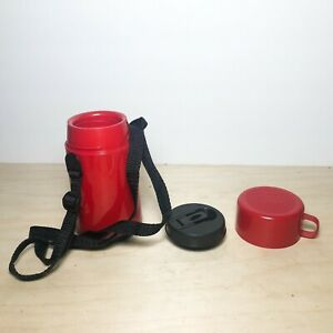 Vintage Aladdin Thermal Insulated Coffee Travel Bottle w Lid & Cup & Strap