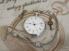 Antike Duplex ähnliche Taschenuhr in Silber China Markt chinese pocket watch
