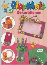 PlayMais® Dekorationen - farbige Bastelanleitungen