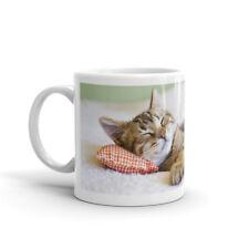Cute Sleeping Kitten Mug - Funny Mum Sister Niece Nan Cat Cats Lover Gift #8265