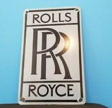 New ListingVintage Rolls Royce Porcelain Gas Oil Auto German Service Dealership Motor Sign