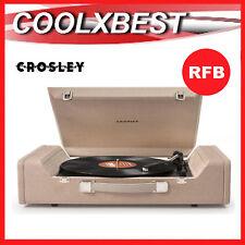 CROSLEY NOMAD TURNTABLE RECORD PLAYER w AUDIO TECHNICA STYLUS USB RFB
