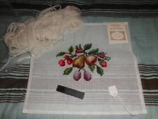 HTF Vintage Madeira Portugal Penelope Canvas Pre-Worked Needlepoint Kit w/Needle