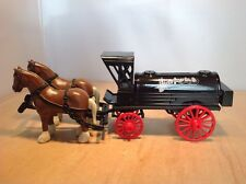 PACIFIC COAST OIL DIE CAST HORSE & WAGON TANKER COIN BANK by ERTL