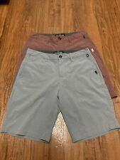 Quiksilver Amphibian Shorts 4-way Stretch Hybrid Gray Red Lot Of 2