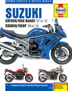 Suzuki GSF650/1250 Bandit & GSX650/1250F 2007-2014 Repair Manual
