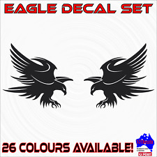 2x EAGLE decal stickers.Car,Ute,4wd,motorcycle,motorbike,boat,shed,bar graphics!