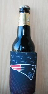 New England Patriots 2Fer Can or Bottle Cooler, Coozie Insulator NFL Koozie