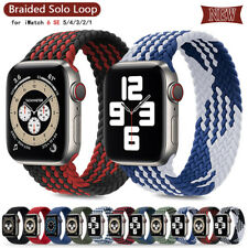 For Apple Watch Strap Series 6 5 4 3 SE Solo Loop Nylon Braided 38 40 42 44 Band