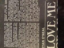 m9-9m ephemera 1970/s film article ryan o neal love me or leave me