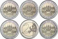 Deutschland 5 x 2 Euro 2007 Schloss Schwerin Mecklenburg Mzz A bis J bankfrisch