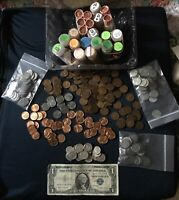 Starter Collection Silver Certificate with LINCOLN WHEAT CENTS LOT + Bonus