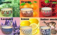 6 Pack Scented Stress Relief Soy Wax Candles Women Gift Set