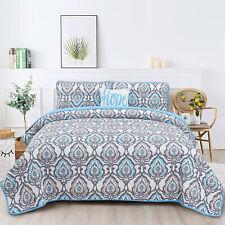Quilt 4 Piece Bedspread Queen King Size Down Alternative Coverlet Bedding Set