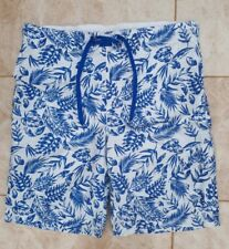 Cedarwood State Mens Size M Blue White Floral Swim Board Shorts Holiday Wear