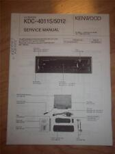 Kenwood Service Manual~KDC-4011S/5012 CD Receiver/Player~Car Audio~Original