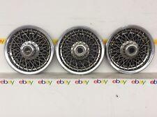 "GM 14"" Wire Spoke Hubcap Wheel Covers 3 lot solid oem"