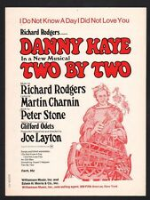 I Do Not Know A Day I Did Not Love You 1970 Danny Kaye in Two By Two Sheet Music