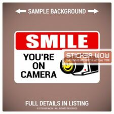 Decal Sticker - Security Camera SMILE YOU'RE ON CAMERA (2) 5x3 - Warning