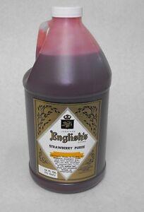 J. English STRAWBERRY PUREE Frozen Margarita & Daiquiri Tiki Slushee Drink Mix
