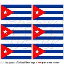 """Cuba Cuban Bandiera 40mm (1.6"""") Mobile Cellulare Mini Adesivi, Decalcomanie x6"""
