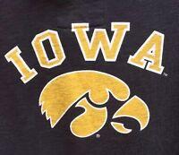 Colosseum Athletics Iowa Hawkeyes Black Hoodie Hooded Sweatshirt Women's M