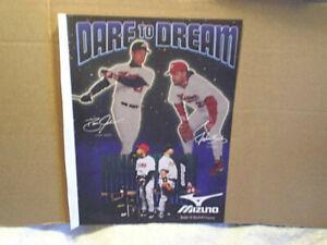 1994 JOHN KRUK DAVID JUSTICE Mizuno baseball AD PRINT,atlanta braves,phillies