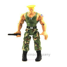 "JAZWARES STREET FIGHTER Green GUILE 4"" Classic ACTION FIGURE boy kid toy gift"
