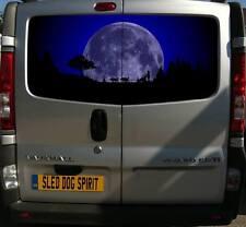 More details for 150cm print van decals stickers sled dog spirit siberian husky rig moon huskies