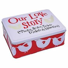 Bright Side Our Love Story Storage Memory Tin  5th Anniversary Valentines Gift