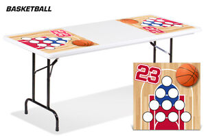 Universal Boardgame Folding Table Top Games Decal Sticker Beer Pong Mats BBALL