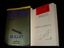 Laurell K. Hamilton signed Bullet 1st printing hardcover book + Business Card