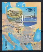 Ungarn 1985 Mi. Bl. 176B Block 100% Postfrisch Brücke über die Donau