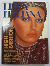 Vintage Italian Designer Fashion Catalog Retro Dresses Jeans Linea Italiana 1976