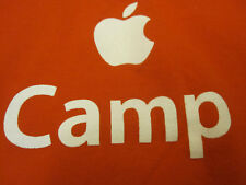 APPLE CAMP iPod iMac iPhone T-SHIRT Orange Medium tee logo MD M MacBook Pro Nano