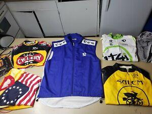 Lot of 5 Cycling Jerseys Mens sz Large Pearl Izumi Primal