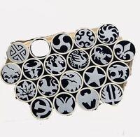 Mosaic pin Rivets 45mm tube Steel+Brass 8mm diameter, knife handle pins-1pc