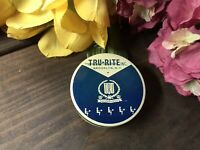 VTG! TRU-RITE Typewriter Ribbon Empty Tin -  Blue Color NICE!