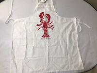 Vintage Nova Scotia Lobster Kitchen BBQ Cotton Apron Full Wrap Tie
