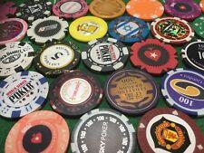 Set of 10 Randomly Selected Golf Ball Markers Chips Lucky Dip Poker Chip Set